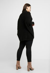 CAPSULE by Simply Be - ELEVATED ESSENTIALS HIGH NECK DETAIL JUMPER - Jumper - black - 2
