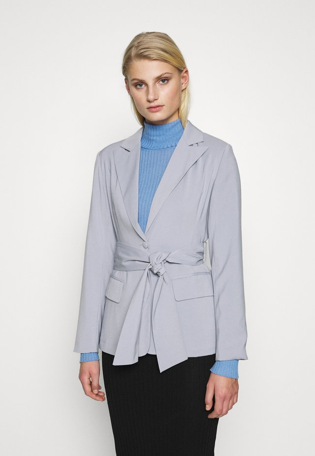 BELTED TAILORED - Blazer - grey