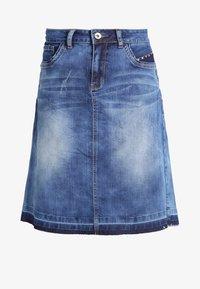 Cream - A-line skirt - rich blue denim - 5