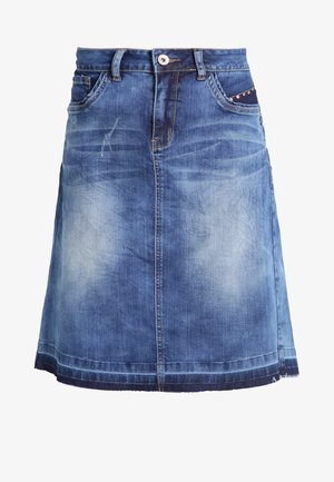 A-Linien-Rock - rich blue denim