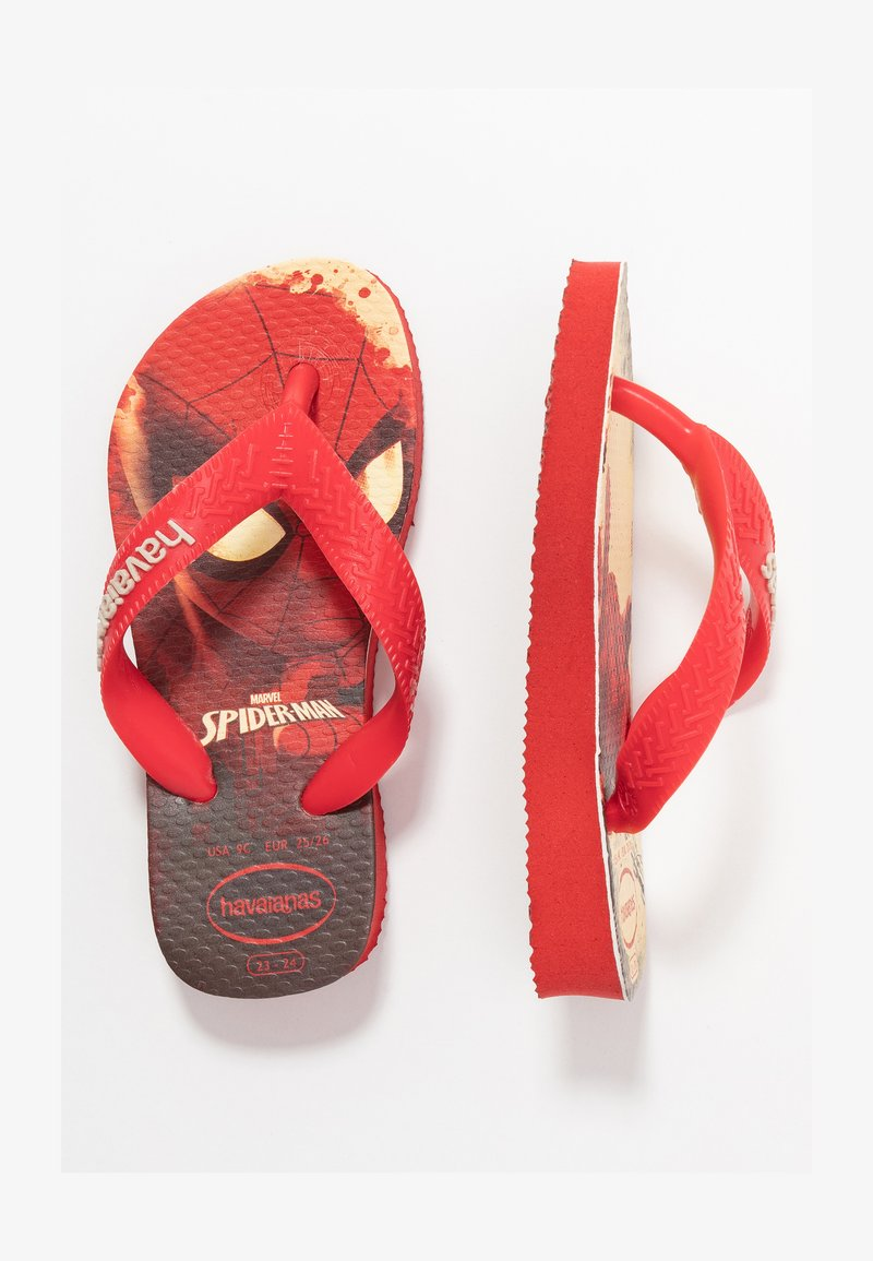 Havaianas - TOP MARVEL SPIDER MAN - Teenslippers - ruby red