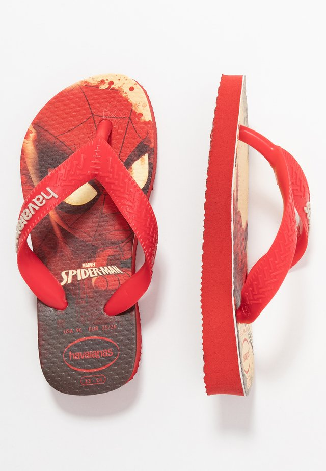 TOP MARVEL SPIDER MAN - Chanclas de dedo - ruby red