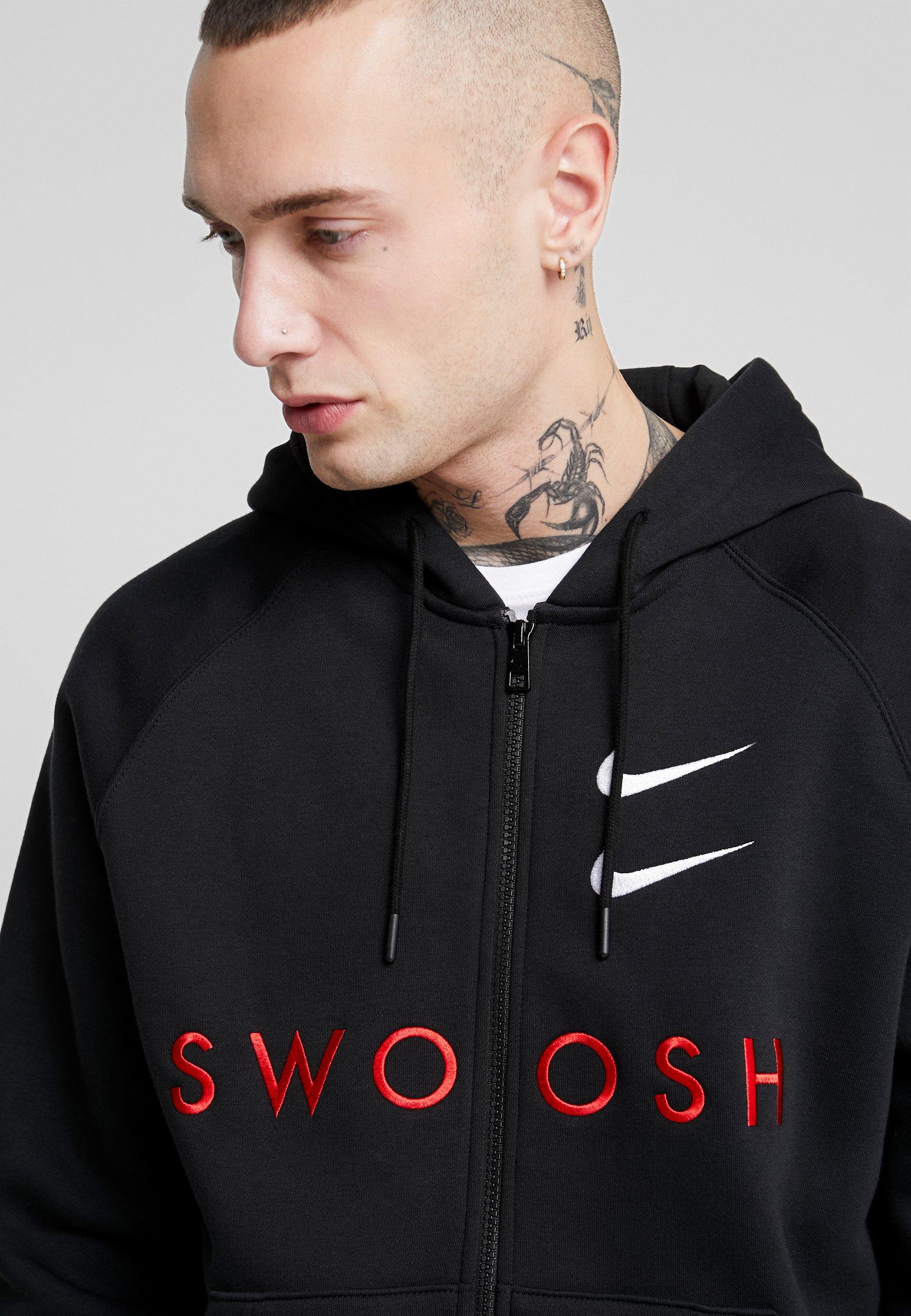 Nike Sportswear veste en sweat zippée - black/university red