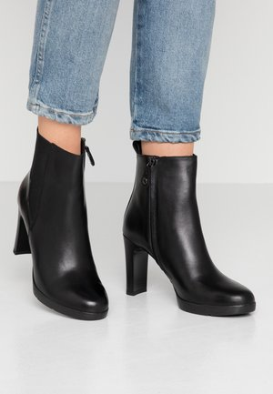 ANNYA  - High heeled ankle boots - black