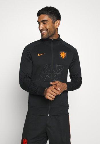 NIEDERLANDE KNVB - Landslagströjor - black/black/black/safety orange