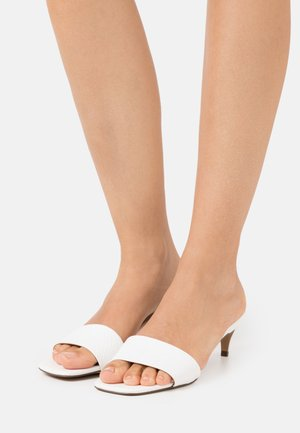 AABELLA - Heeled mules - white