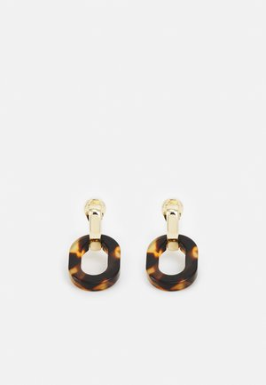 OVAL LINK DROP - Earrings - gold-coloured/tort
