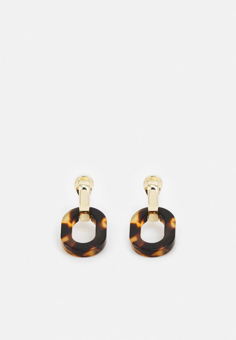 Lauren Ralph Lauren - OVAL LINK DROP - Earrings - gold-coloured/tort