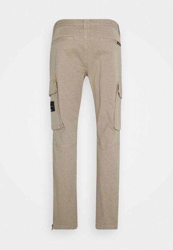 Calvin Klein Jeans WASHED PANT - BojÓwki - elephant skin/taupe Odzież Męska FYIU