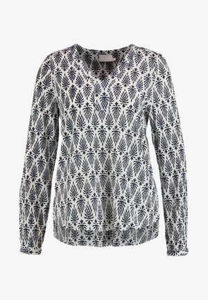 AMBER JAS BLOUSE - Blouse - dark blue/chalk