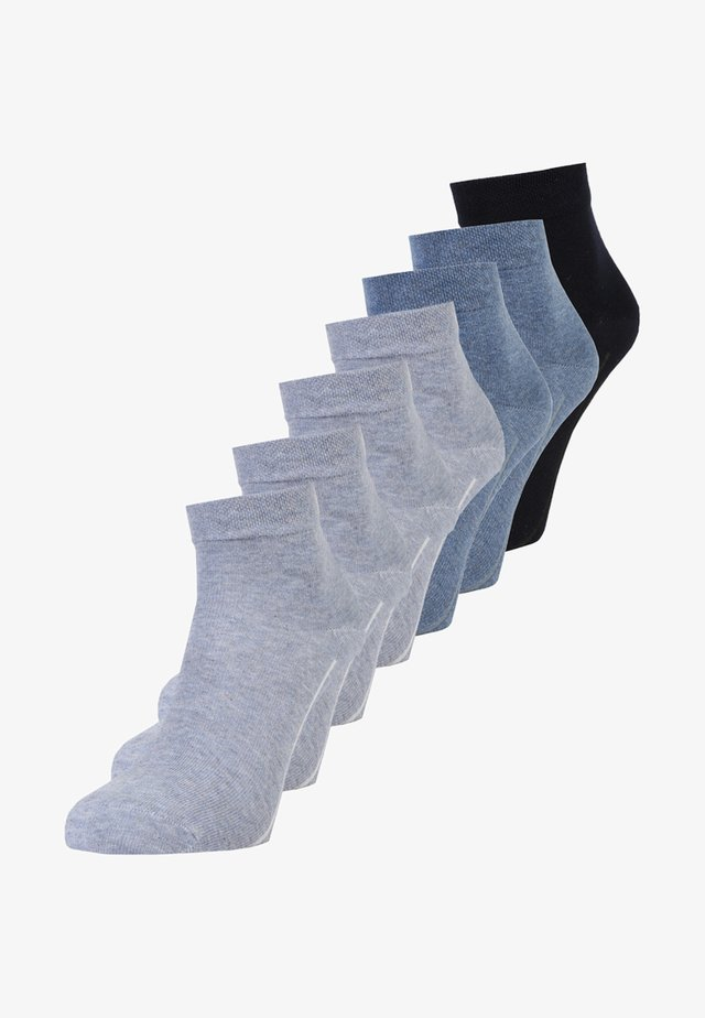 BOX 7 PACK - Socks - denim melange/stone melange/navy