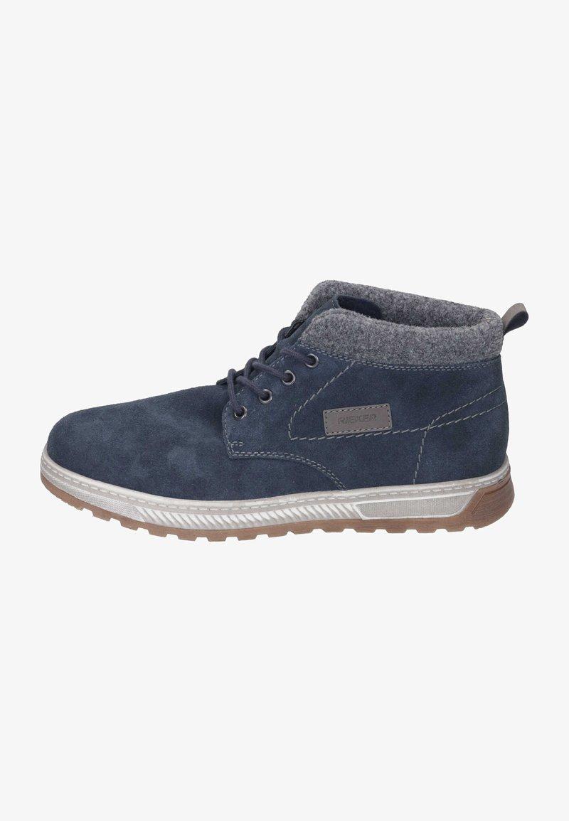 Rieker - Lace-up ankle boots - pazifik/granit/polvere