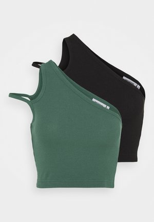 STRAP CROP 2 PACK - Top - green/black