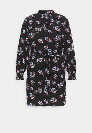 PCLUNILLA SHIRT DRESS - Shirt dress - black