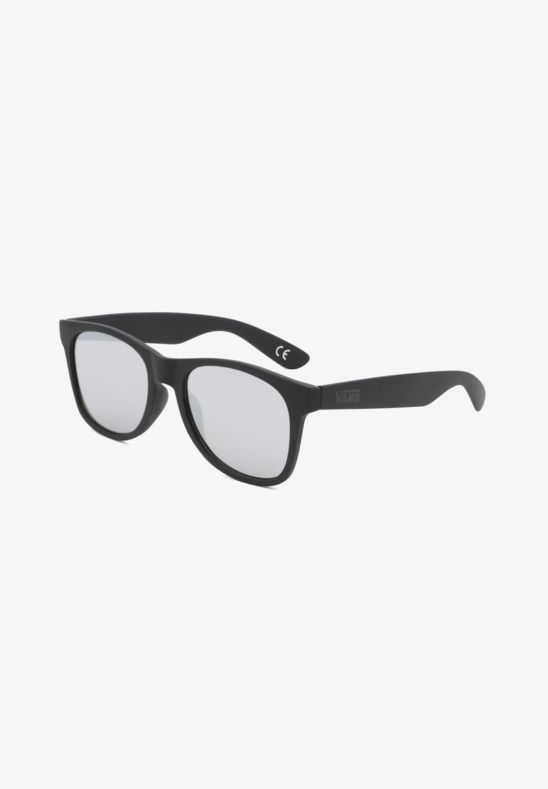 Vans - MN SPICOLI FLAT SHADES - Sunglasses - black/silver mirror