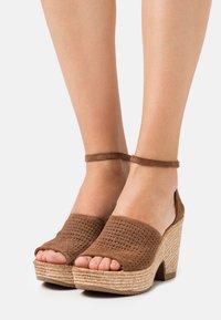 Felmini - MESHA - High heeled sandals - brown - 0