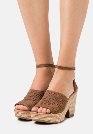 MESHA - High heeled sandals - brown