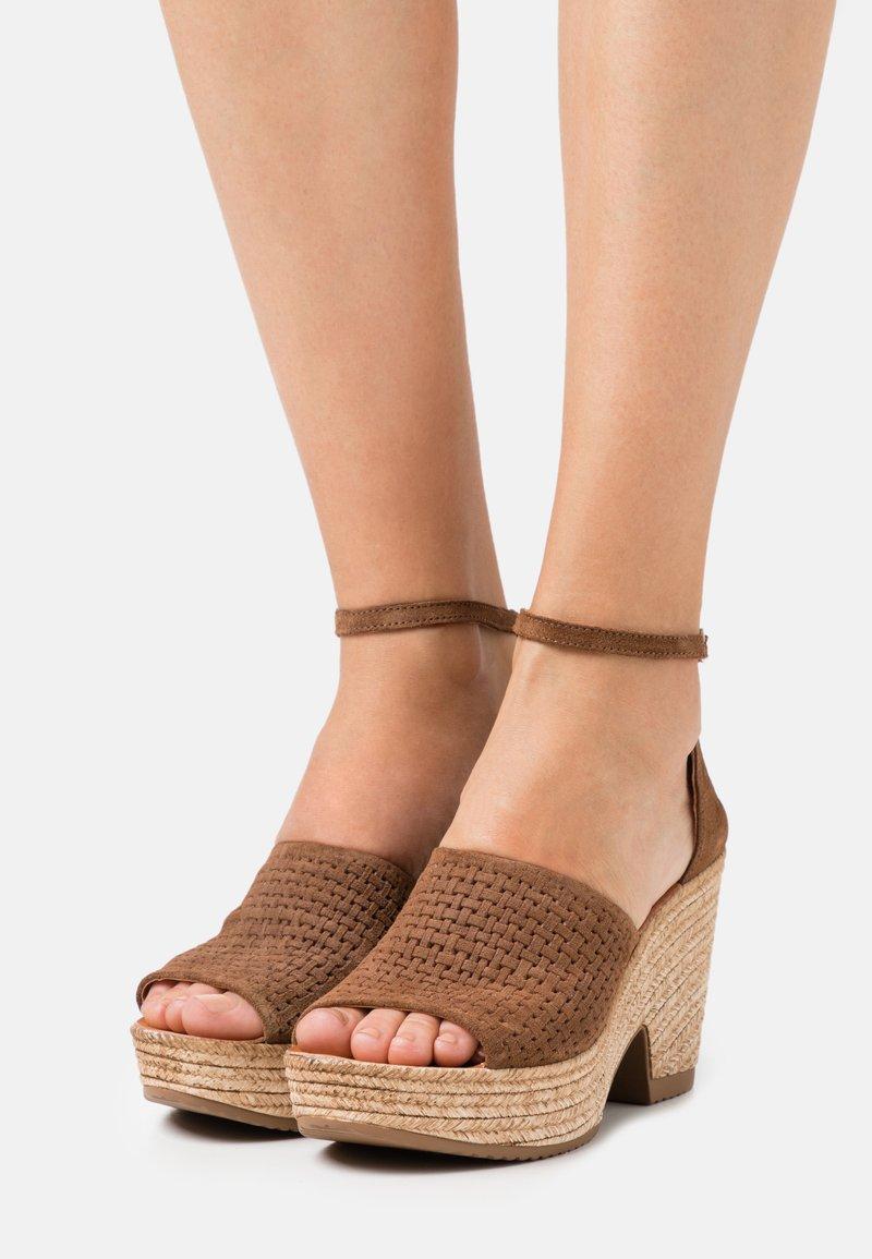 Felmini - MESHA - High heeled sandals - brown