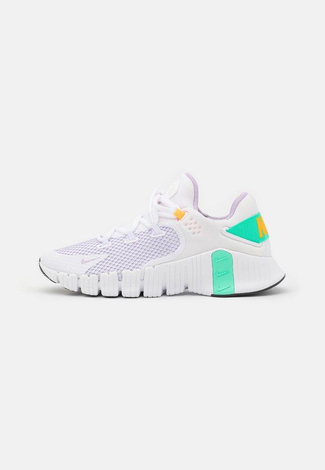 FREE METCON 4 - Chaussures d'entraînement et de fitness - white/infinite lilac/dark smoke grey/green glow/football grey/laser orange