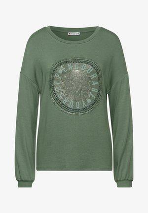 MIT PARTPRINT - Long sleeved top - grün