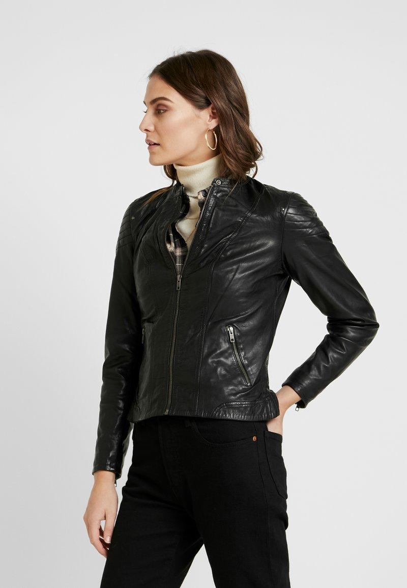 NAF NAF - CLIM - Kožená bunda - black