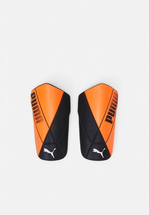 ULTIMATE FLEX UNISEX - Shin pads - shocking orange/black white
