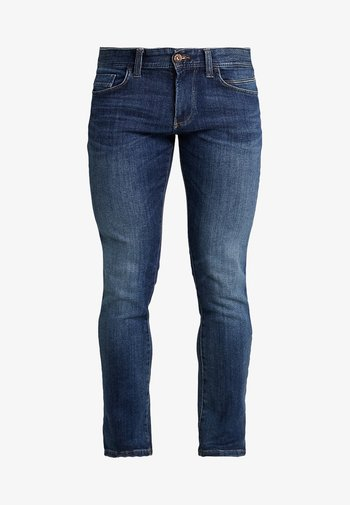 HOUSTON - Jeans Straight Leg - dark blue denim