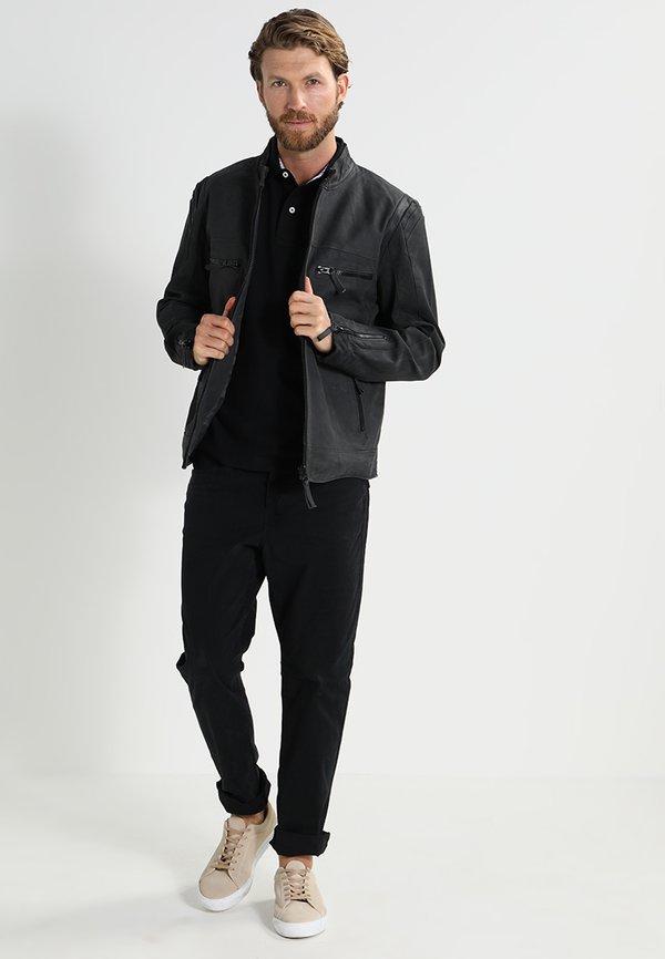 Tommy Hilfiger PERFORMANCE REGULAR FIT - Koszulka polo - black/czarny Odzież Męska MZYM