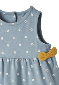 Vertbaudet - Day dress - blau getupft - 2