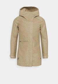 Icebreaker - AINSWORTH HOODED JACKET - Short coat - sand - 0