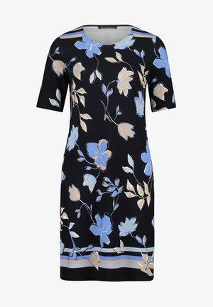 Day dress - dark blue beige