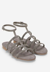 Marc O'Polo - MIT PERLEN-STICKEREI - Sandals - dark grey - 2