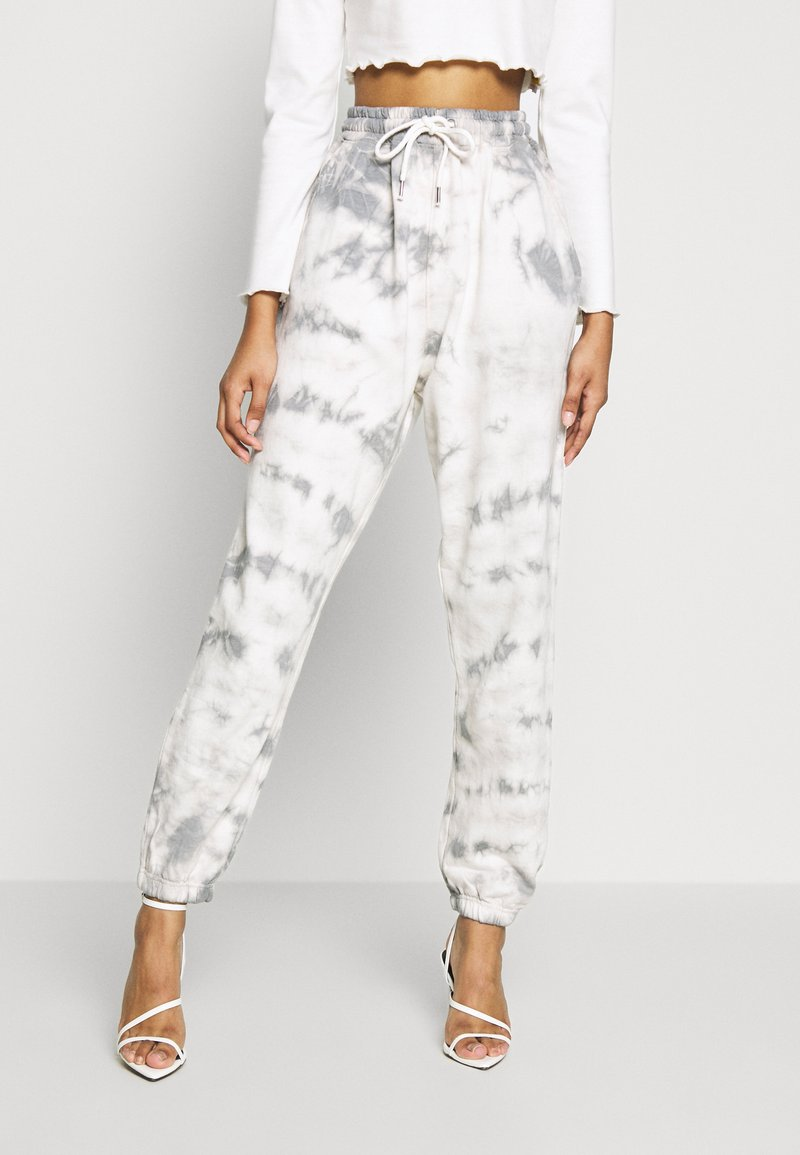 Missguided - TIE DYE  - Tracksuit bottoms - cream