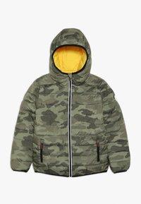 Superdry - REVERSIBLE FUJI - Winter jacket - olive/yellow - 0