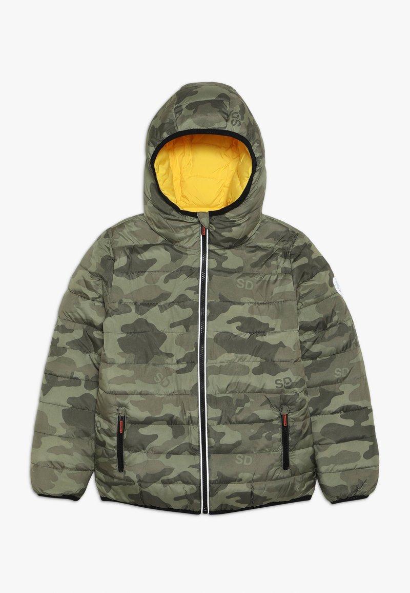Superdry - REVERSIBLE FUJI - Winter jacket - olive/yellow