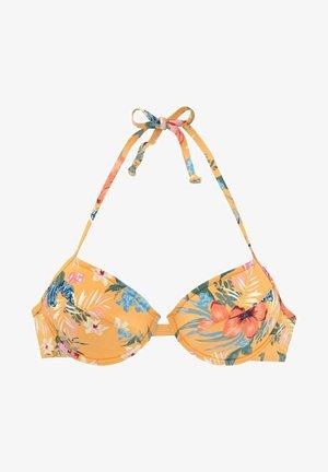 PUSH UP - Bikinitop - gelb bedruckt