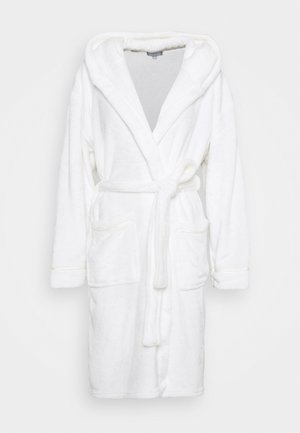 LUXURY HOODED ROBE  - Albornoz - white