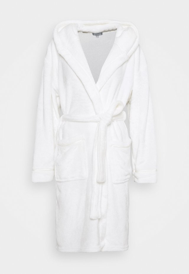 LUXURY HOODED ROBE  - Peignoir - white