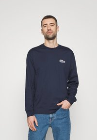 Lacoste - LACOSTE X NATIONAL GEOGRAPHIC - Long sleeved top - navy blue/zebra - 1