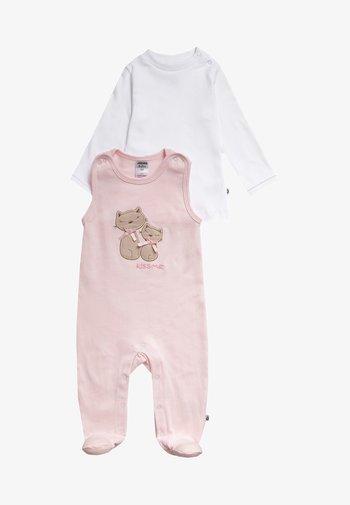 SET - Sleep suit - rosa/weiß