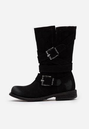 GREDO - Kovbojské/motorkářské boty - nirvan nero