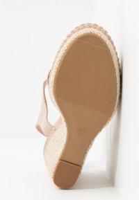 Anna Field - LEATHER - Sandaler med høye hæler - nude - 6