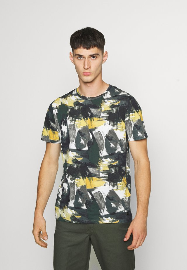 JPRBLASTOKE TEE CREW NECK - T-shirt print - harvest gold