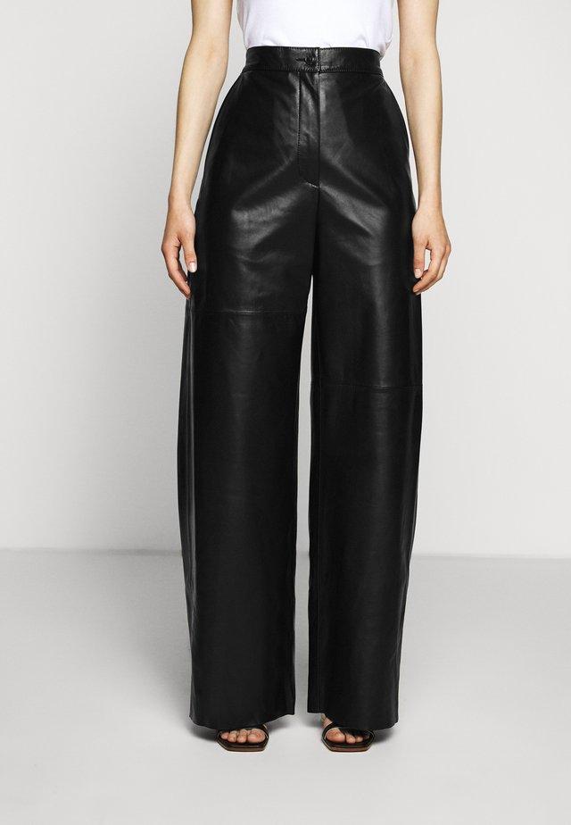 Pantalon en cuir - black