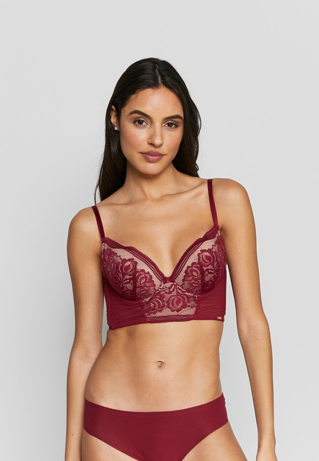 ENCORE PADDED LONGLINE - Push-up bra - bordeaux