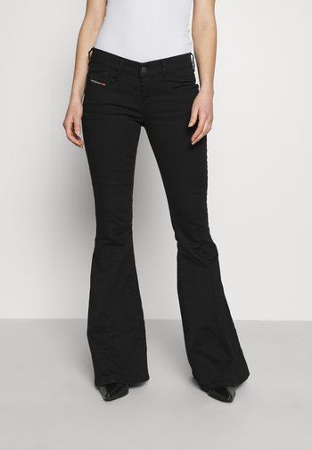 BLESSIK  - Flared Jeans - black