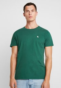 Abercrombie & Fitch - POP ICON CREW - T-Shirt basic - pine green - 0