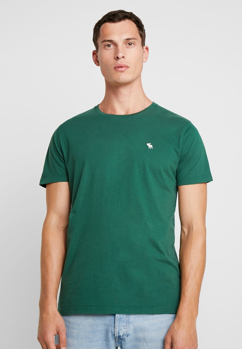 Abercrombie & Fitch - POP ICON CREW - T-Shirt basic - pine green