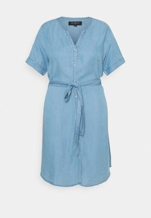 CARLILI LIFE KNEE DRESS - Dongerikjole - medium blue denim