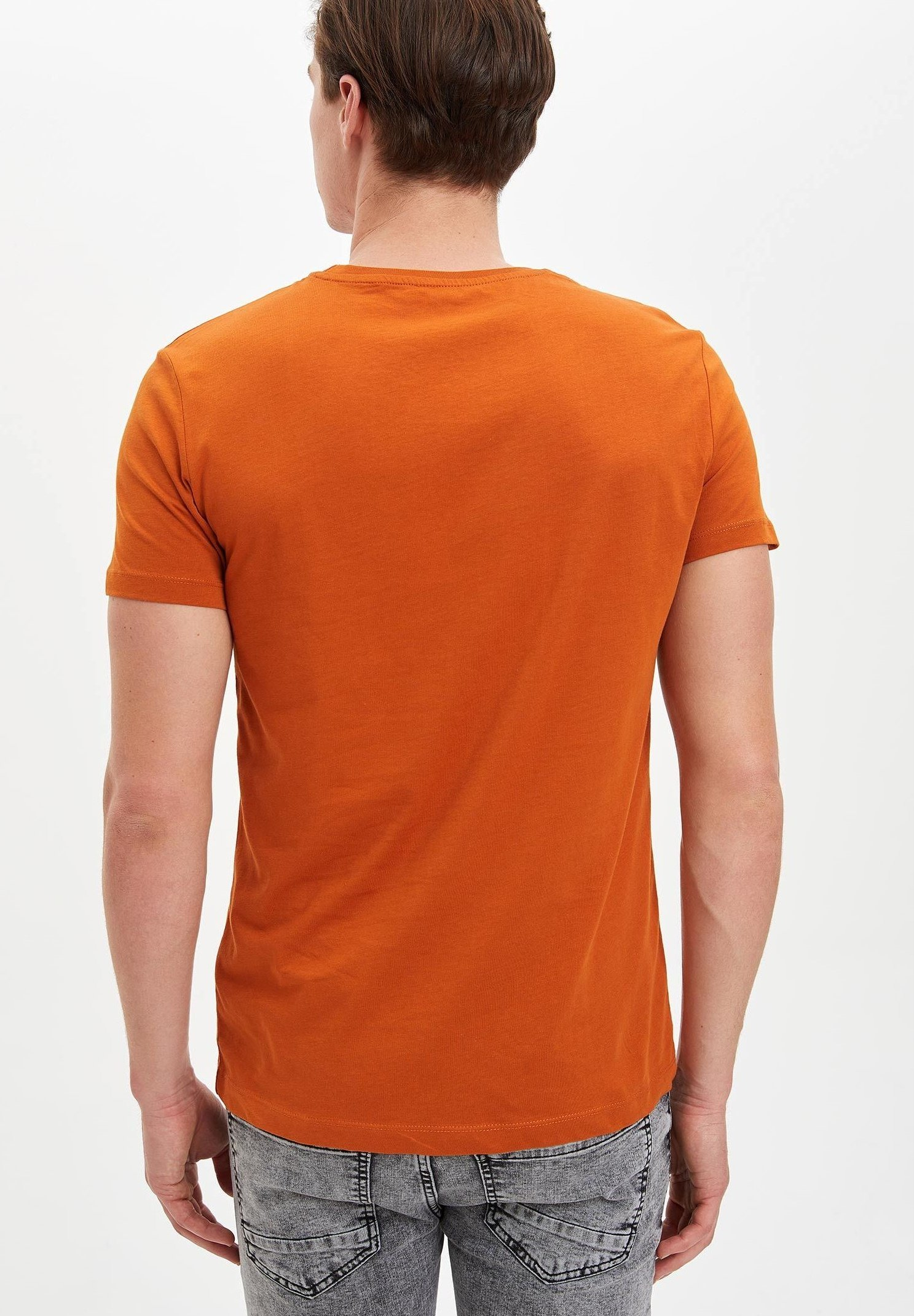 DeFacto Print T-shirt - brown rXnSt